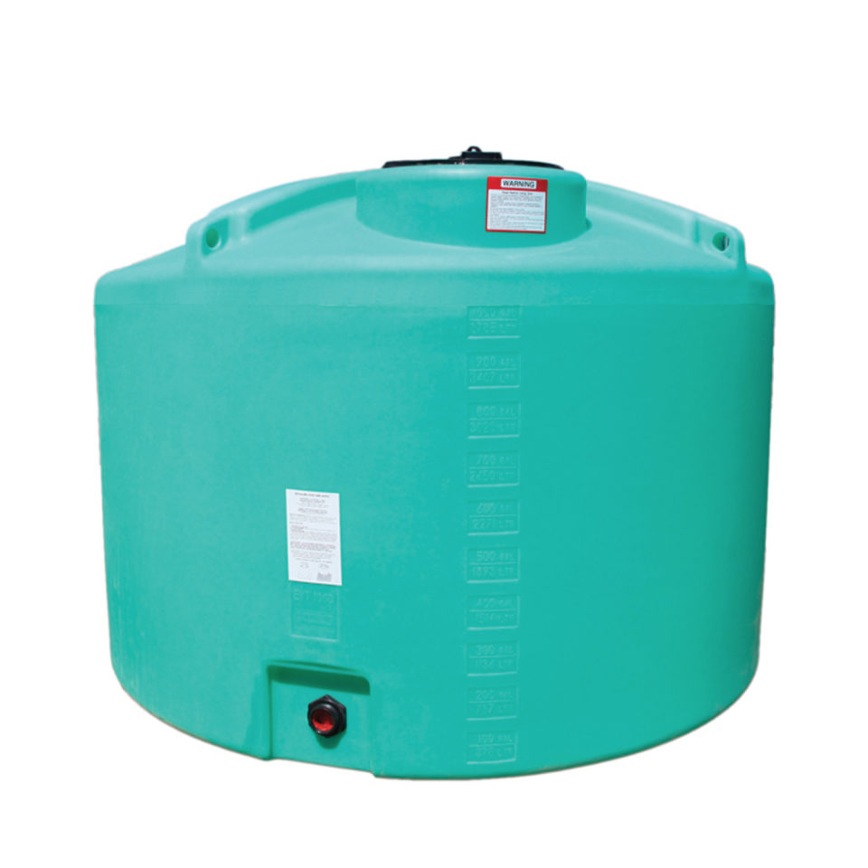 Enduraplas 1,000 Gallon Flat Bottom Storage Tank