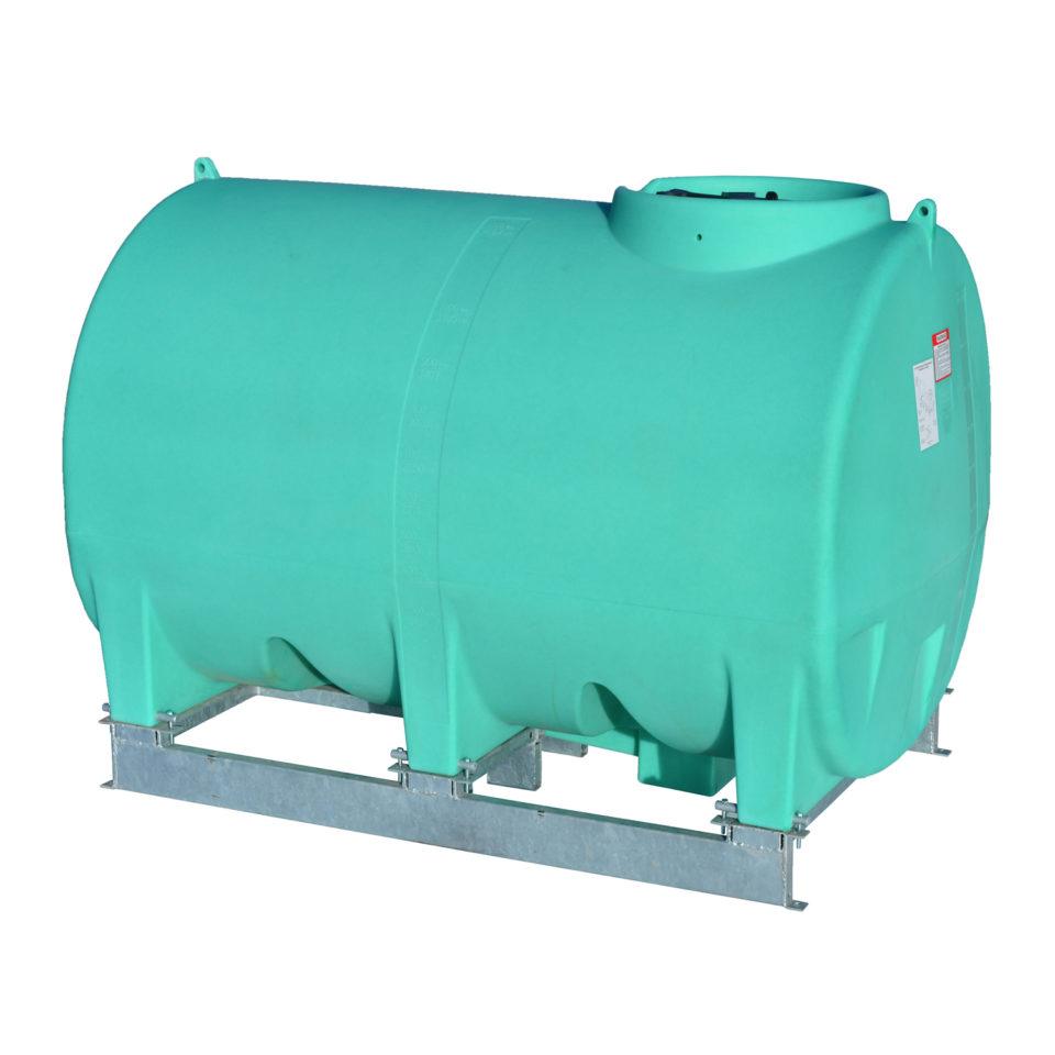Enduraplas 1,000 Gallon Sump Bottom Transport Tank With Frame