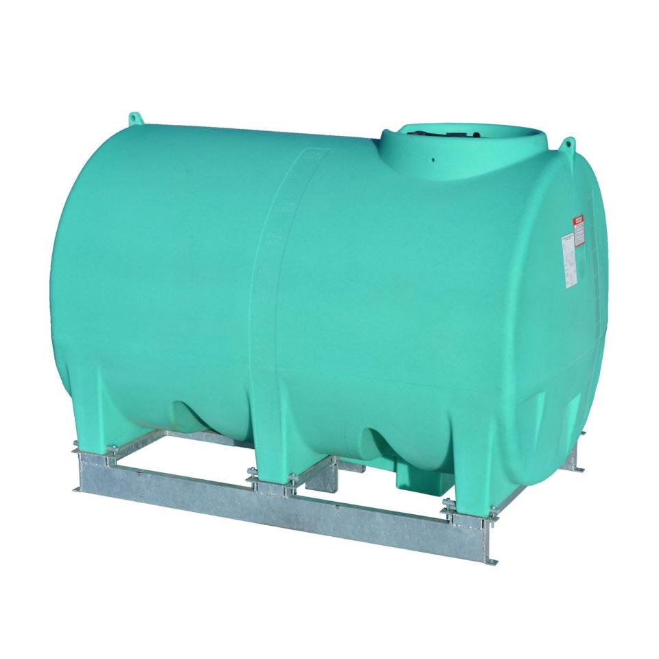 Enduraplas 1,400 Gallon Sump Bottom Transport Tank With Frame