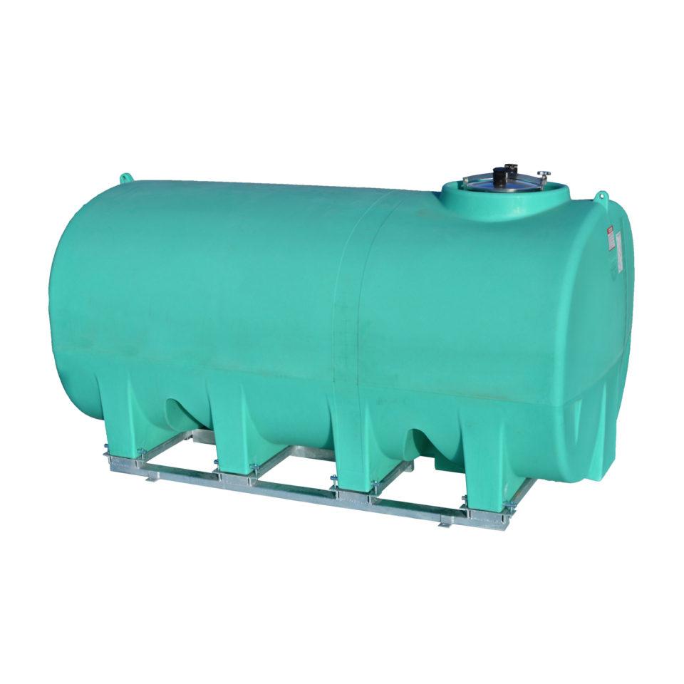 Enduraplas 2,200 Gallon Sump Bottom Transport Tank With Frame