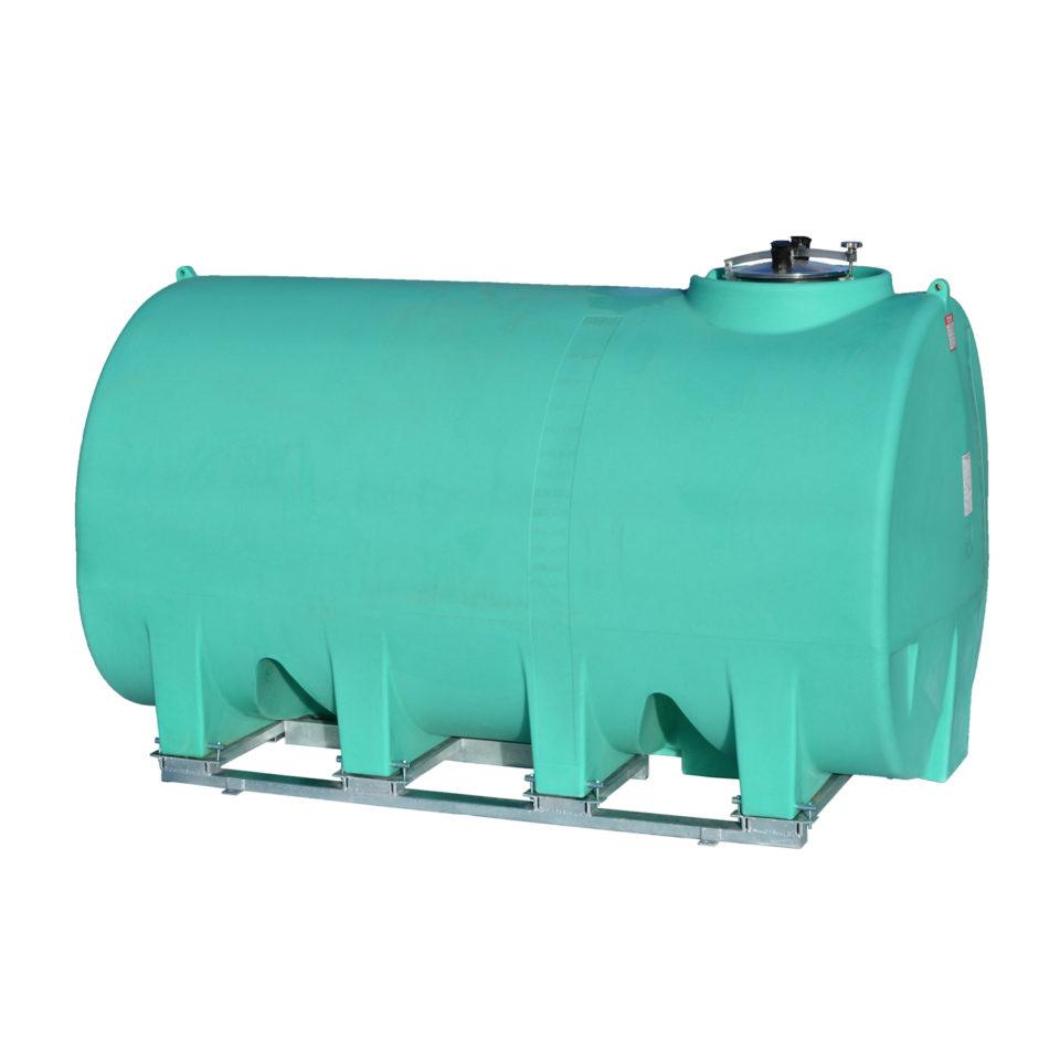 Enduraplas 2,500 Gallon Sump Bottom Transport Tank With Frame
