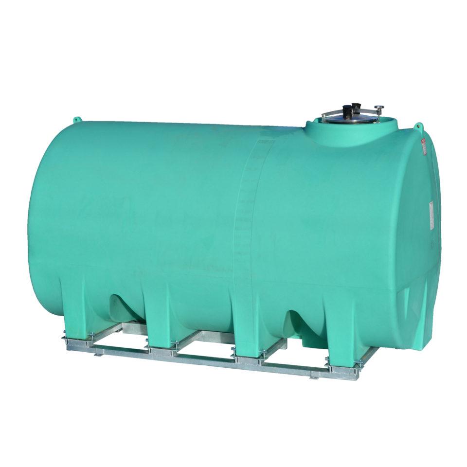Enduraplas 3,000 Gallon Sump Bottom Transport Tank With Frame
