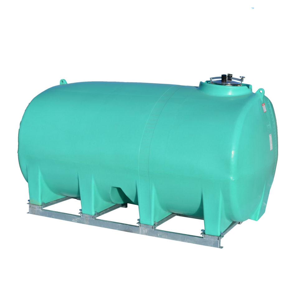 Enduraplas 3,200 Gallon Sump Bottom Transport Tank With Frame
